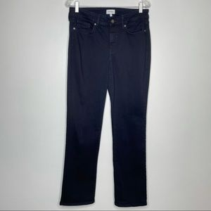 Not Your Daughter's Jeans NYDJ Marilyn Straight Leg Dark Indigo Denim Jeans